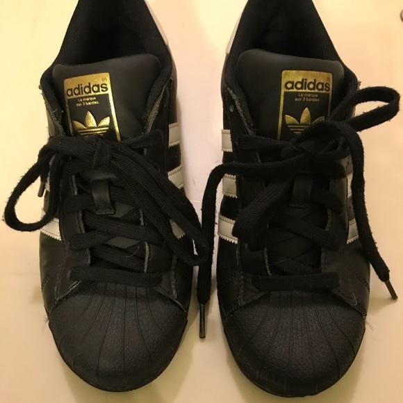 59d6108c7 Adidas Superstar Sneaker Black Shell Top